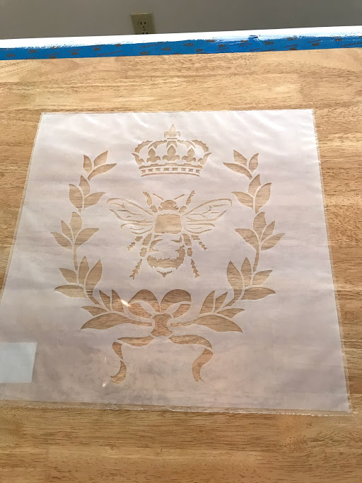 Here is the French Country table stencil I went with! I bought it from a stencil seller on Etsy!