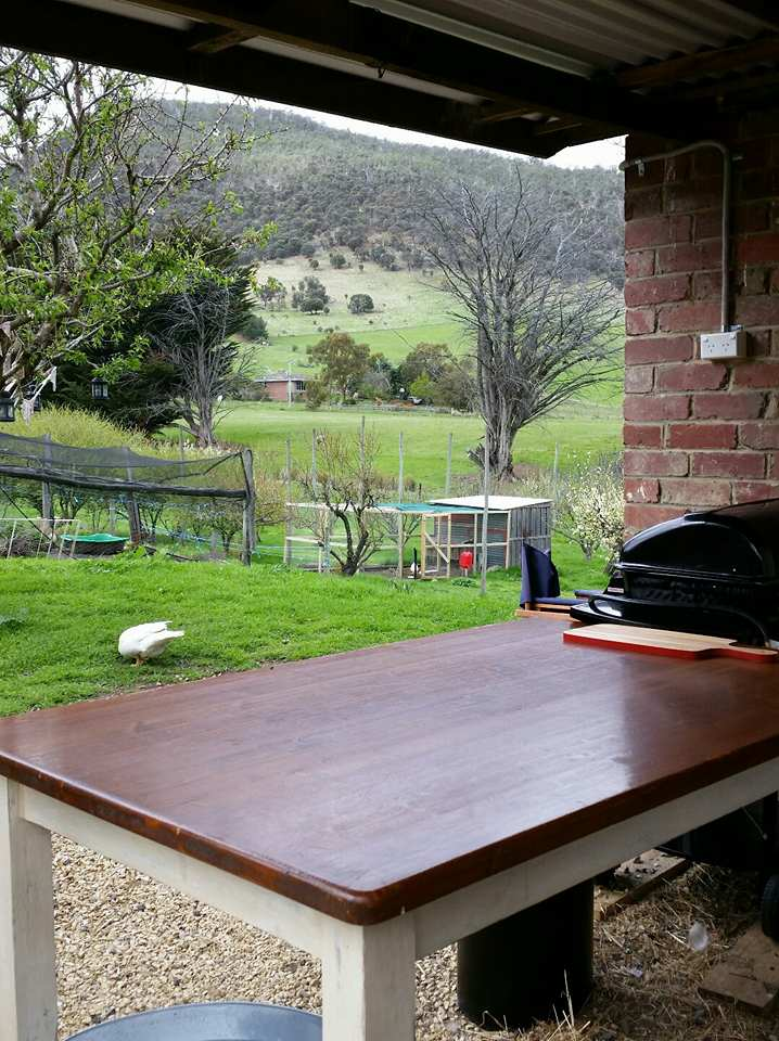 The Farm Shack BBQ and food preparation area. -