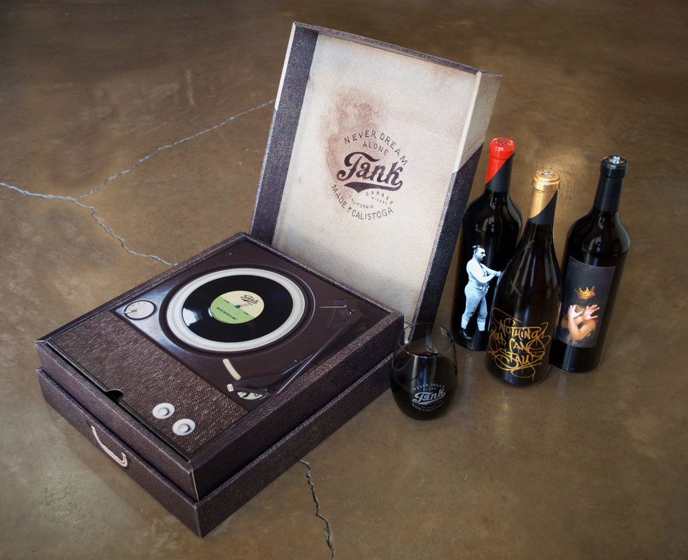 tank garage winery turntable gift box - Tank Garage Winery