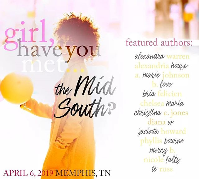Don't miss out on this amazing event. Tickets are still available! 13 authors. ⠀ 5 hours of fun. ⠀ 1 focus: Black romance. ⠀ Girl, Have You Met? is April 6 in Memphis. Register here: http://bit.ly/2sLN6dJ . . .  C H E L S E A M A R I A🥀 . . .  #blackgirlswrite #blacklove #supportblackauthors #blackauthorsmatter #blacklovematters #bookbae #WritersOfIG #blackgirlmagic #blackromancenovels #newrelease #chelseamaria #egyptianunicorn #goodreads #kindle #blackbooks #romancereaders #romanceauthor #authorsofinstagram #reallove #avidreader #shepenslove #romancebooks #romance #books #bookstagram #bookjunkie #booklover #bookwarm #bookaholic #GHYM