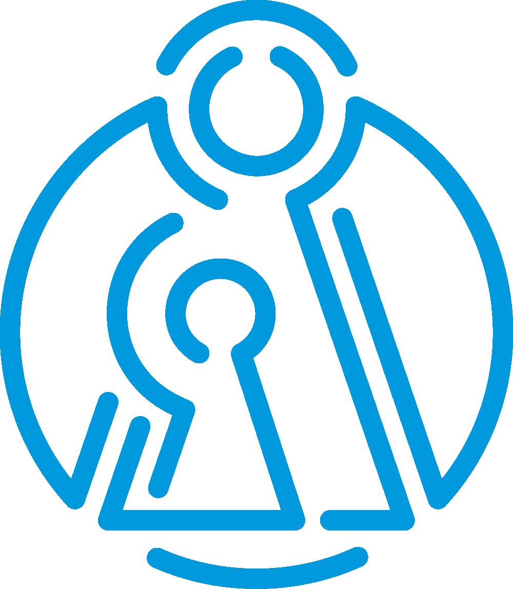 Parikanniemisäätiön merkissä on kuvattuna suojelusenkeli.