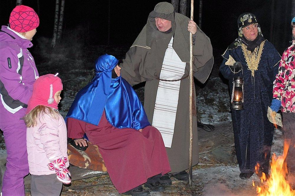 Matka Betlehemiin -jouluvaellus.
