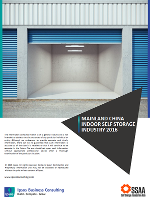 Ipsos Business Consulting - Mainland China Self Storage Industry 2016