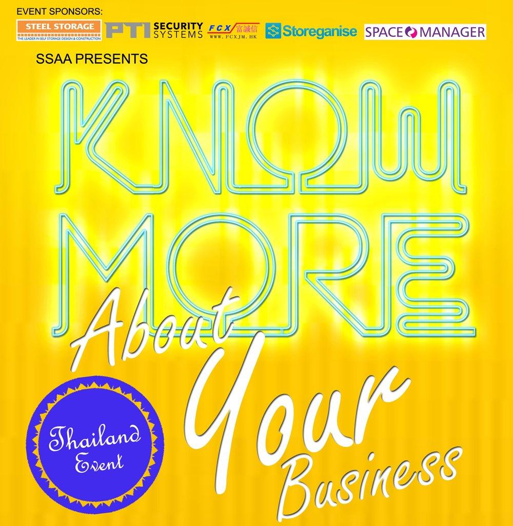 3月5日  曼谷 - 知道更多关於您的业务