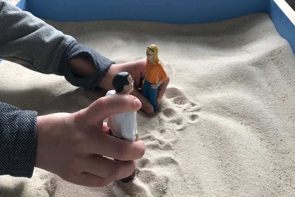 Sandtray Interventions - Sand tray therapy is a technique which can be used to facilitate healing in adults, adolescents, and children, allowing them to express their thoughts and feelings when words alone are not enough.