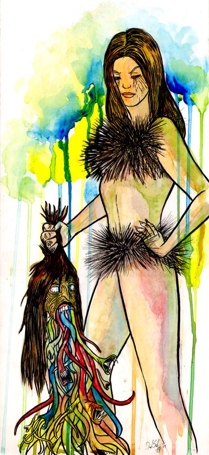 "The Grimm Fairy Tale ""Rumpelstiltskin"" portrayed by burlesque model  Z"