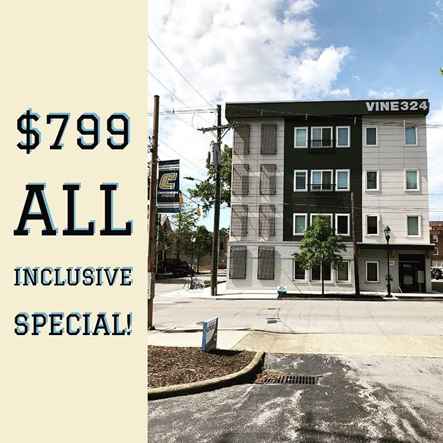 Fall Leasing special! Call today! *parking available for additional $40/month!