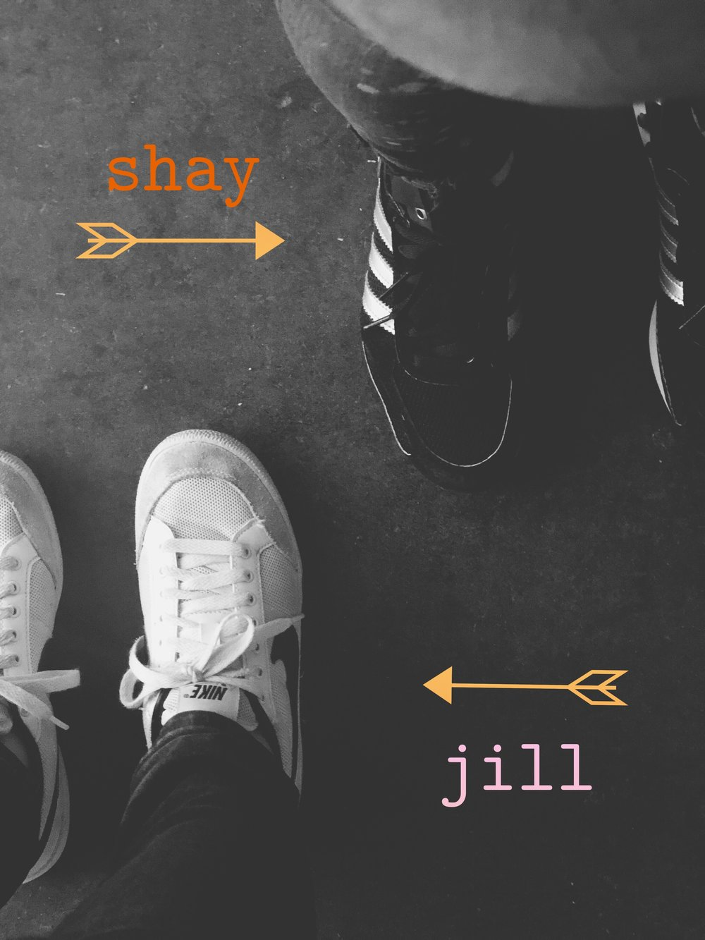Hi!  We're Shay + Jill.  Friends, co-creatives and happy people.  We believe life should be lived in color, shared with friends + family and in the power of creativity to bring joy.