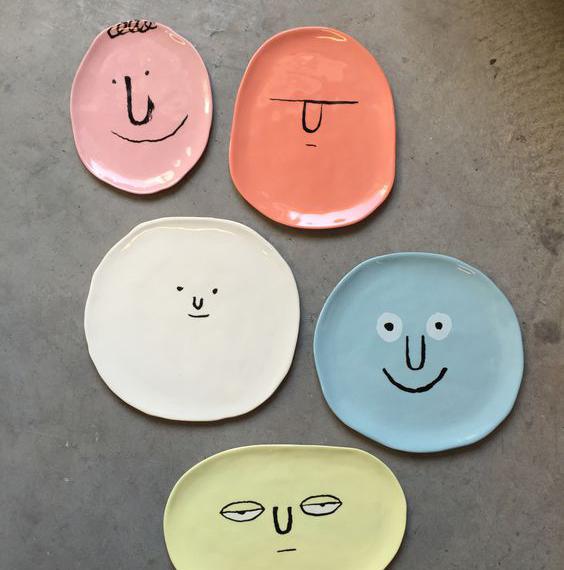 Face plates by  Jean Jullien