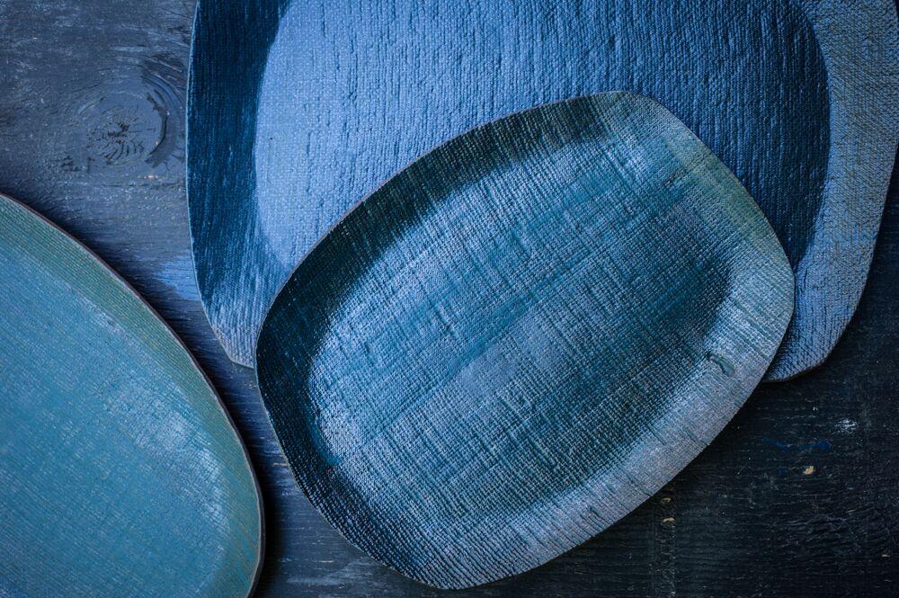 Elephant Ceramics  Indigo Platters
