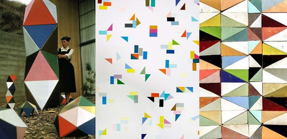 Ray Eames via  iiiinspired . Triangles via  Archivo Diario . Tiles via  Zeli j.