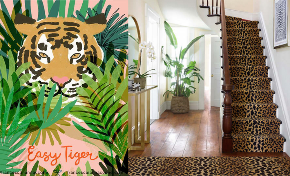 Easy Tiger - via  Francesca Iannaconne . Stair runner - via  Annie Selke .