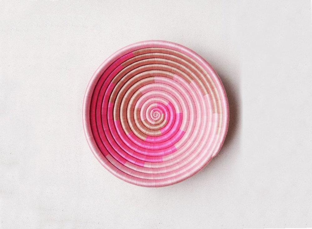 Pink Swirl Plateau - $70