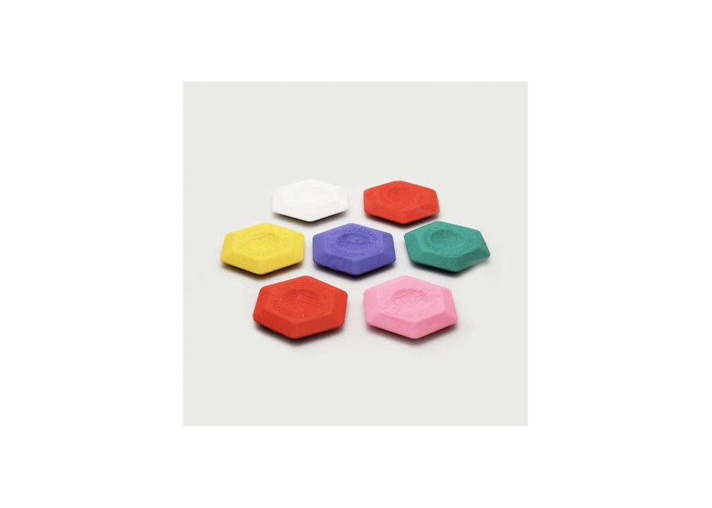 Hexagon Erasers - $1.75 / each