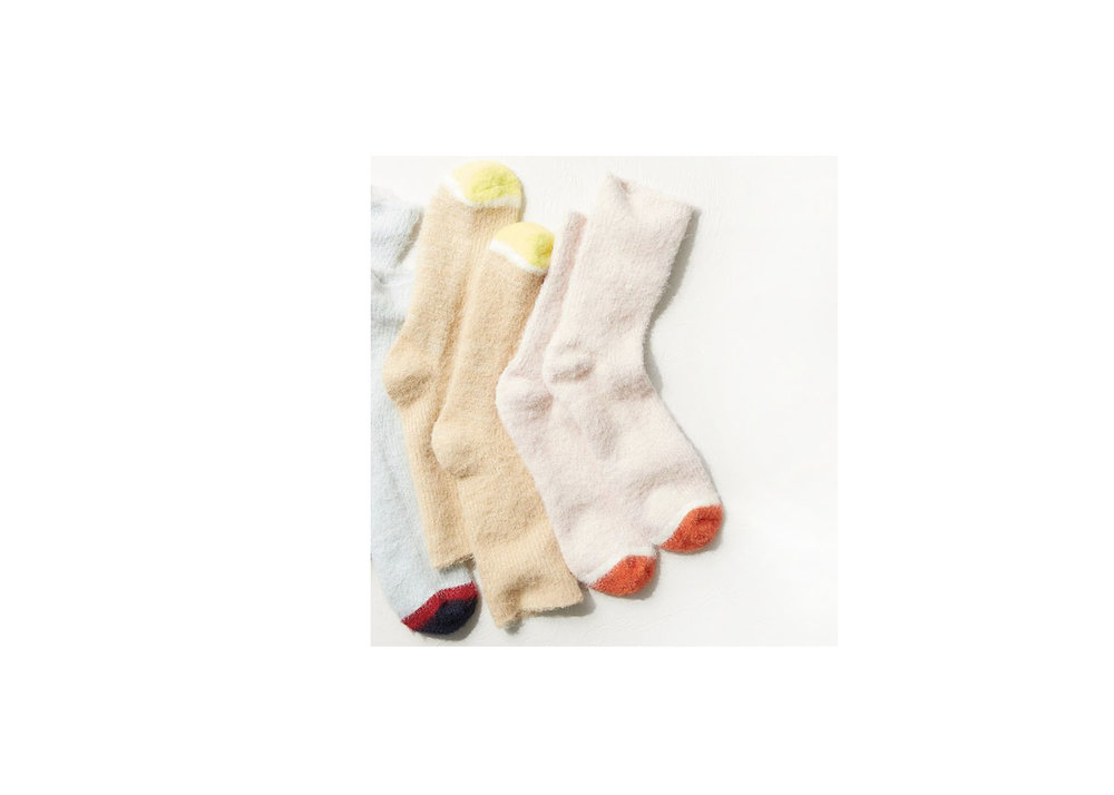 Fuzzy Sparkle Crew Sock - $14