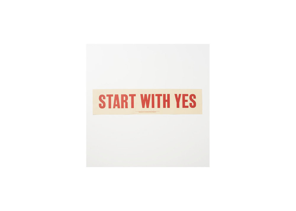 Start with Yes Print - $79