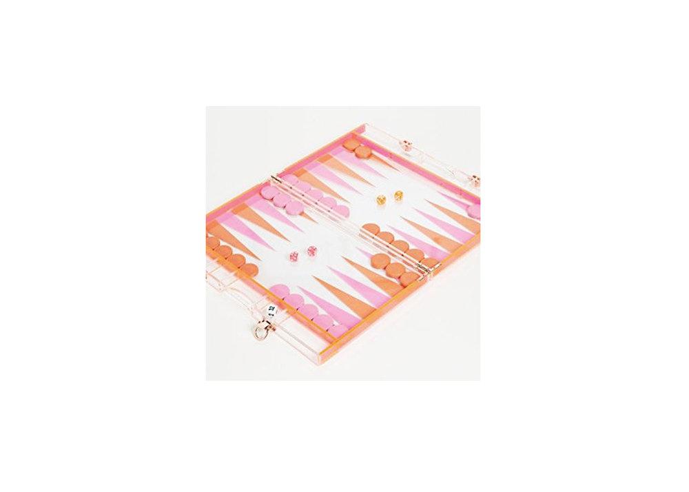 Lucite Backgammon - $160