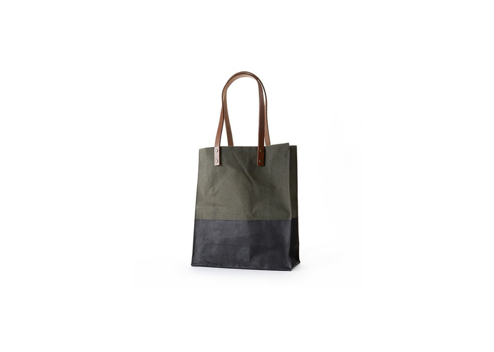 Waxed Canvas Tote - $125
