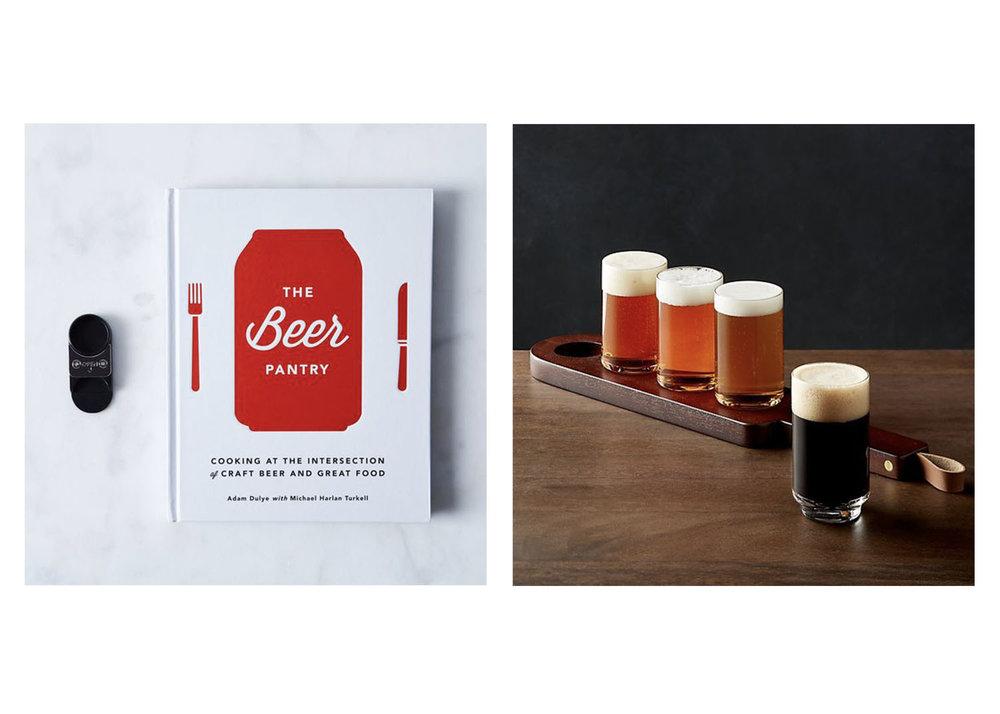 Beer Pantry cookbook  +  Beer tasting glasses