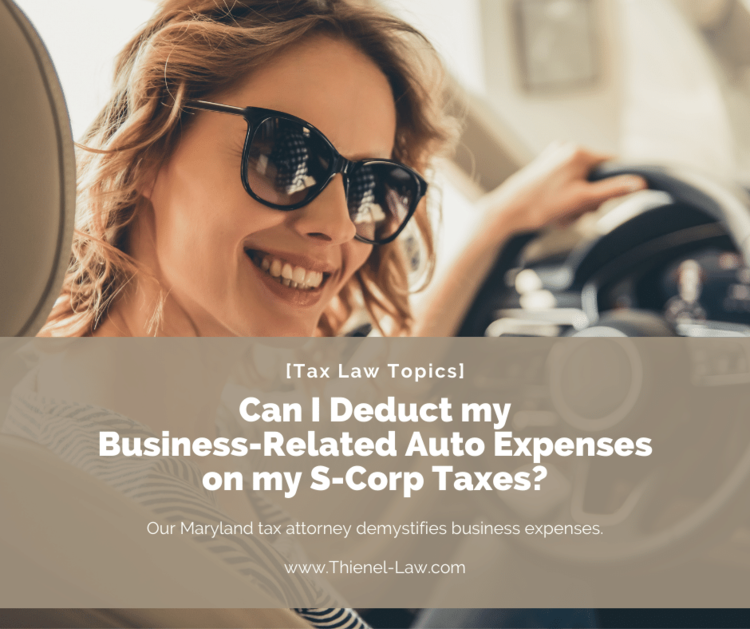 Can I Deduct my Business-Related Auto Expenses on my S-Corp
