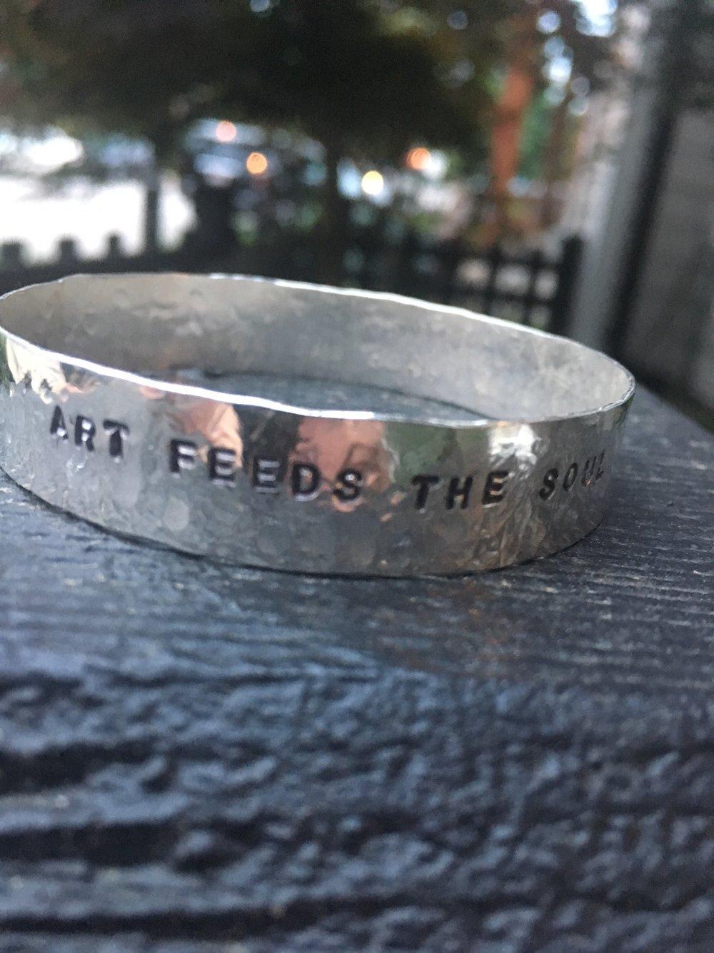 Hammeredsilver bracelet - Artist, Anita Bisset, Fort FineryRetail value: $160.