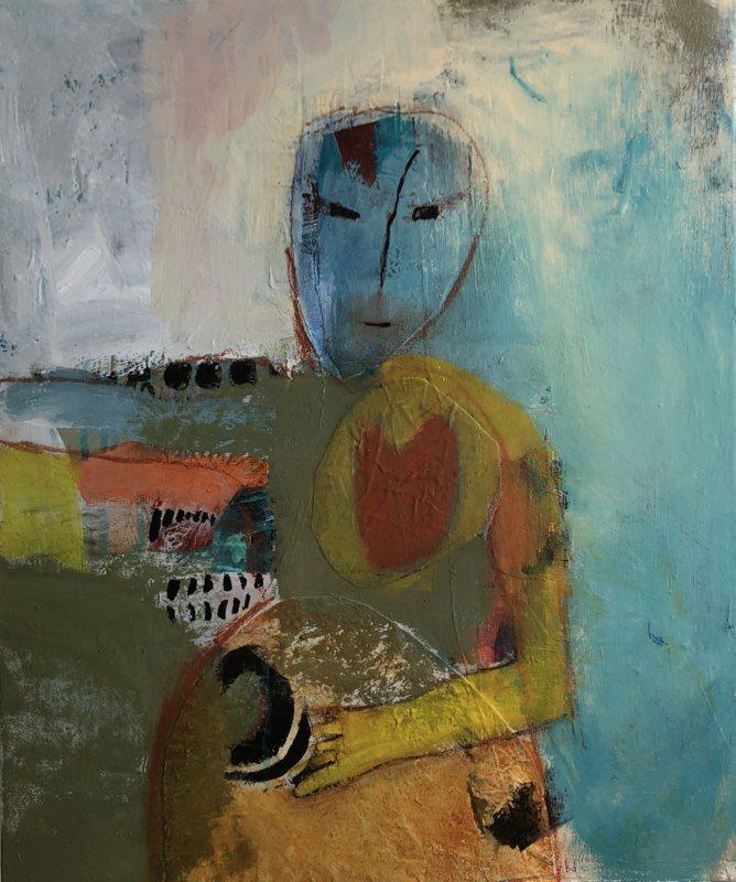 "Figural mixed media - Artist, Barb Defago, Kizmit Gift GalleryMixed media 20 x 24""Retail value: $480."
