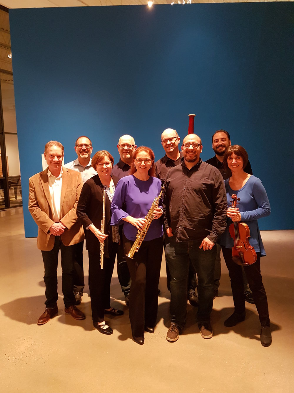 With Forcast Music in Winston/Salem, NC for performance of Mosaic, April, 2017