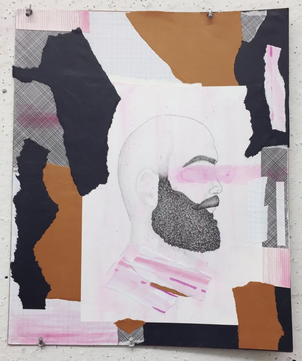 Portrait Study, 2018, Mixed Media