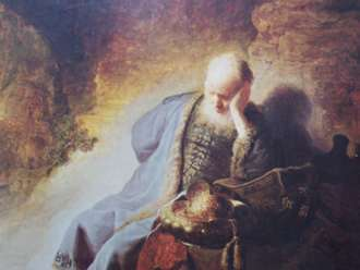 "Rembrandt: ""Jeremiah Lamenting the Destruction of the Temple in Jerusalem"""