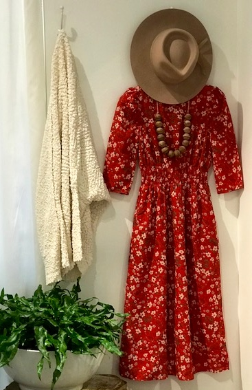 boutique hat and dress outfit