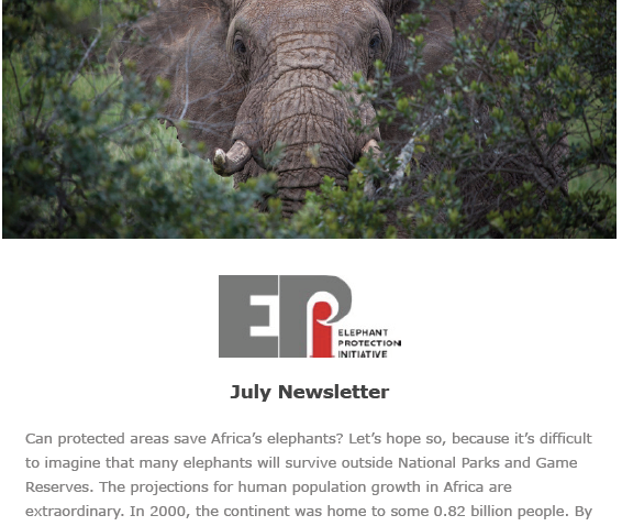 EPI Newsletter: July 2018 - Includes updates working with the Governments of Uganda and Malawi, work on Angola's NEAP, tracking elephants in Gabon, and the EPI Secretariat at the GEF Assembly...