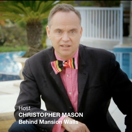 Christopher Mason TV host of Behind Mansion Walls on Investigation Discovery channel,  murder in fabulous houses..