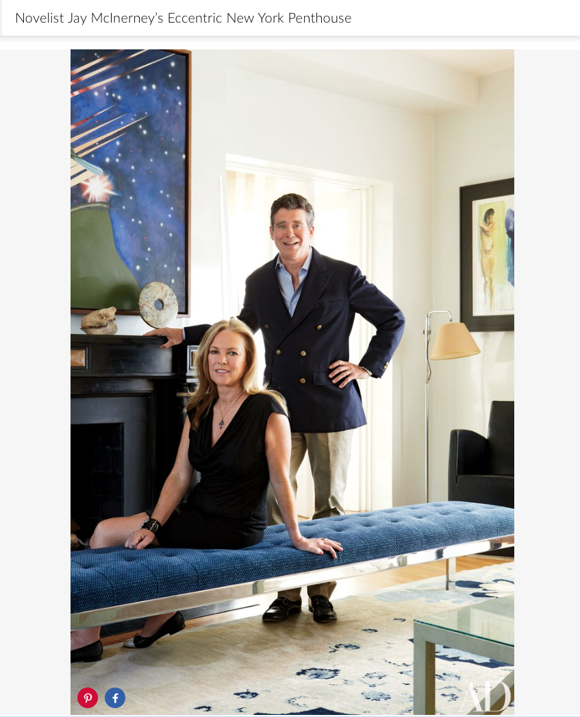 Anne Hearst and Jay McInerney at their Manhattan apartment, which was redone by architect and designer  Robert Couturier .