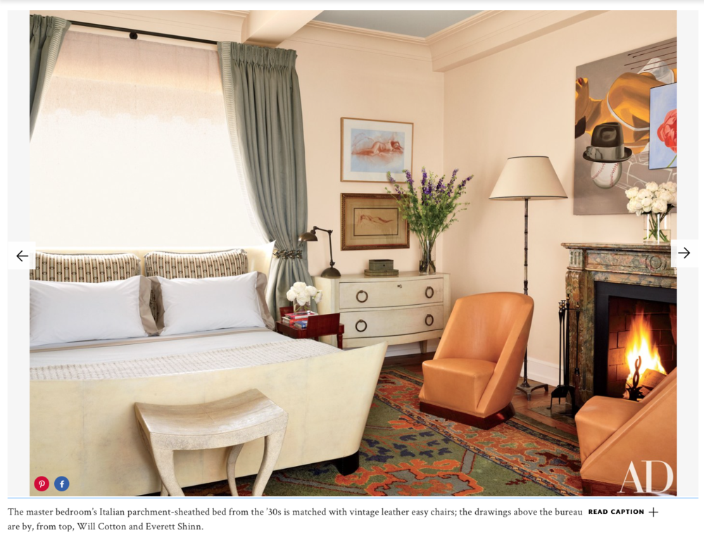 Jay McInerney and Anne Hearst's New York master bedroom. Photo by Joshua McHugh Article by Christopher Mason