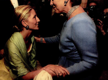 Princess Marie-Chantal of Greece (née Miller) with her mother-in-law, the Queen of Greece.