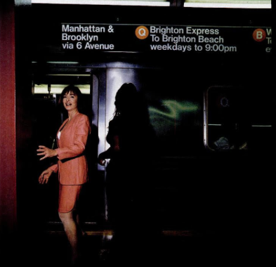 METRO GOLD: Princess Elizabeth of Yugoslavia on the subway