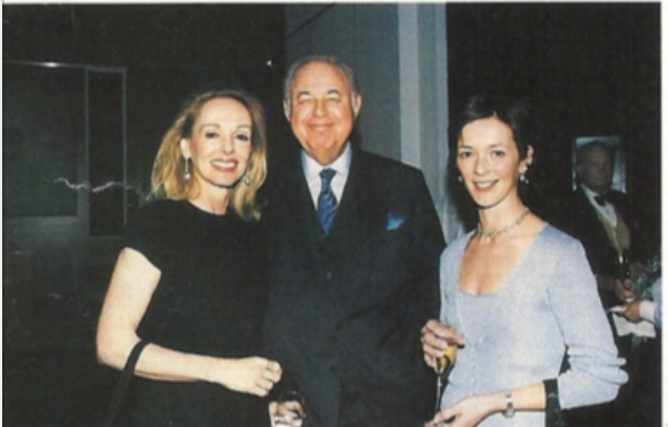 Judy and Alfred Taubman with the Duchess of Northumberland at Sotheby's, New York