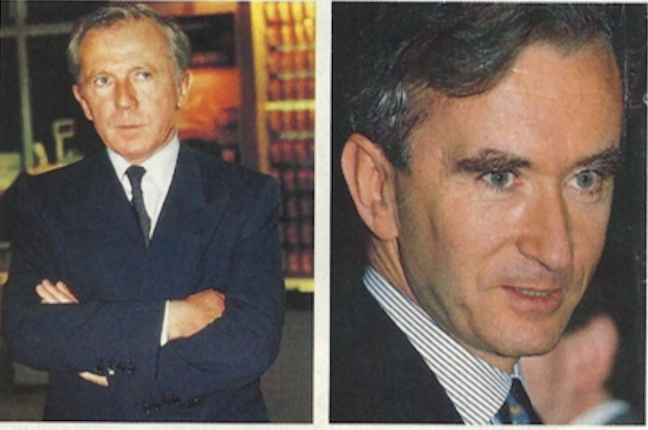 Dueling French billionaires: François Pinault, owner of Christie's, and Bernard Arnault, chairman of LVMH