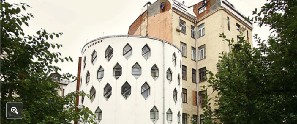 The Constructivist architect Konstantin Melnikov's grandchildren are fighting over the fate of his landmark 1929 house in central Moscow. Credit: Dmitry Beliakov for The New York Times