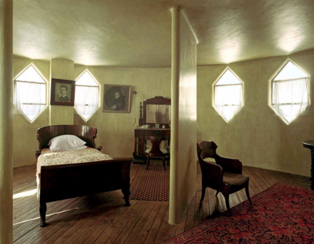 The interiors still look much the same as they did when he died in 1974. Above, a bedroom.Credit: Harf Zimmerman/World Monuments Fund