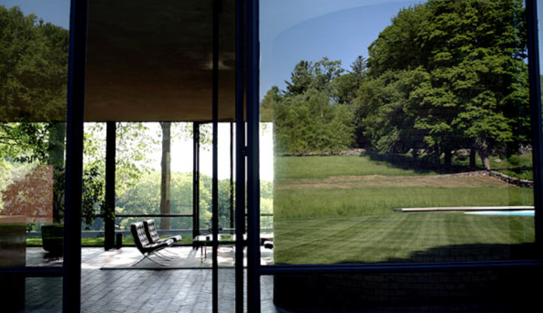 A view into the living area of Philip Johnson's Glass House in New Caanan, Conn., considered more Modernist masterpiece than functioning home. CreditTodd Heisler/The New York Times