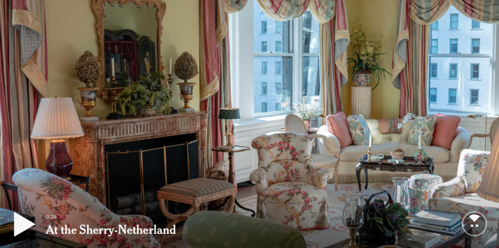 Mario Buatta designed eight houses for Ann and Charles Johnson, including a grand apartment at the Sherry Netherland in Manhattan.Published OnOct. 19, 2018CreditCreditImage by Tim Chaffee/The New York Times