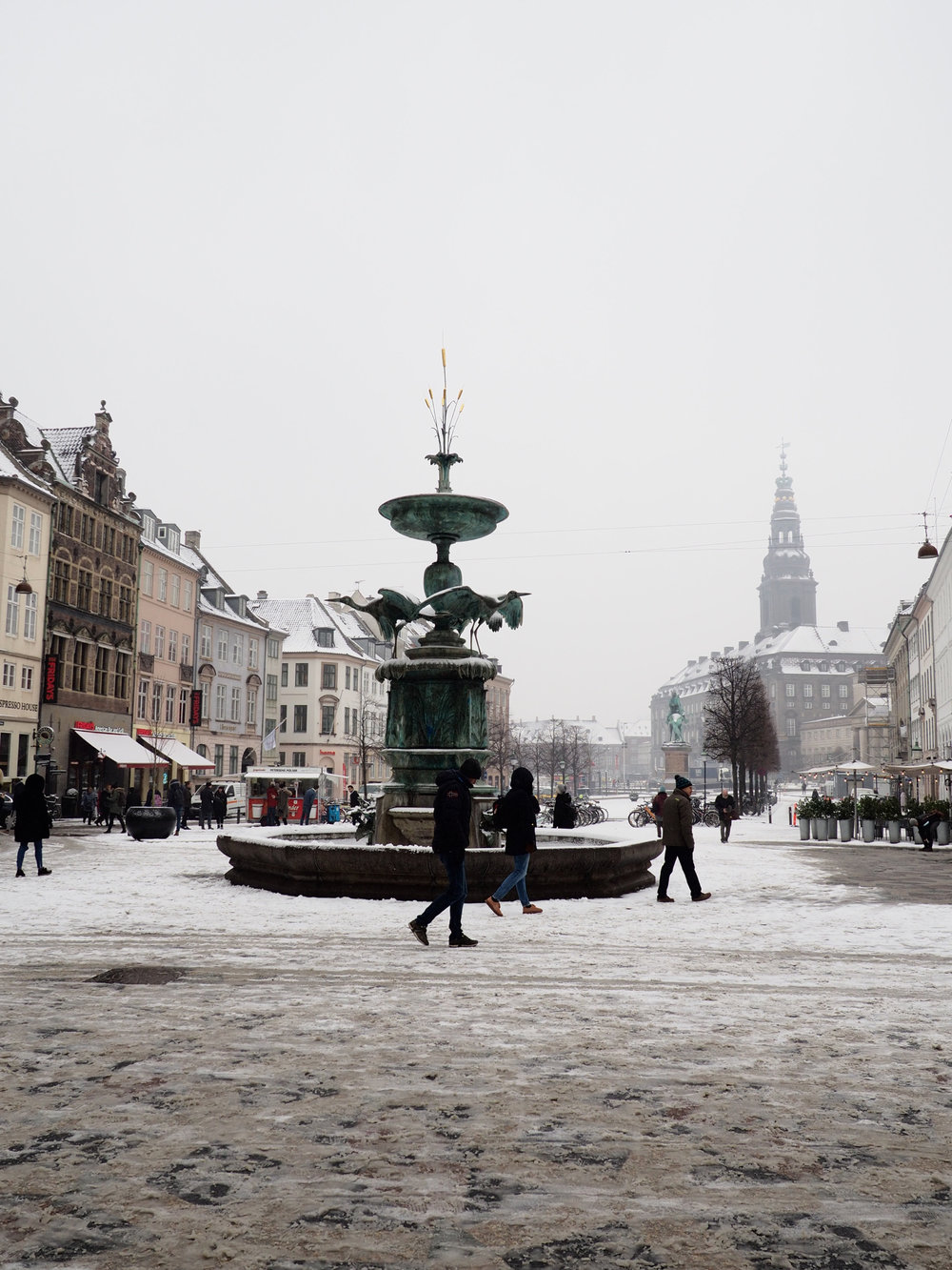 It snowed in Copenhagen during my stay