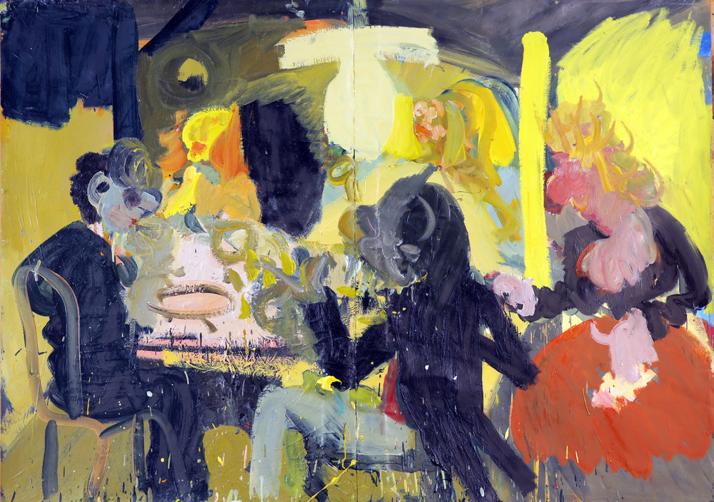 Finger Food  Oil on Paper 100 x 140 cm_ High Resolution.jpg