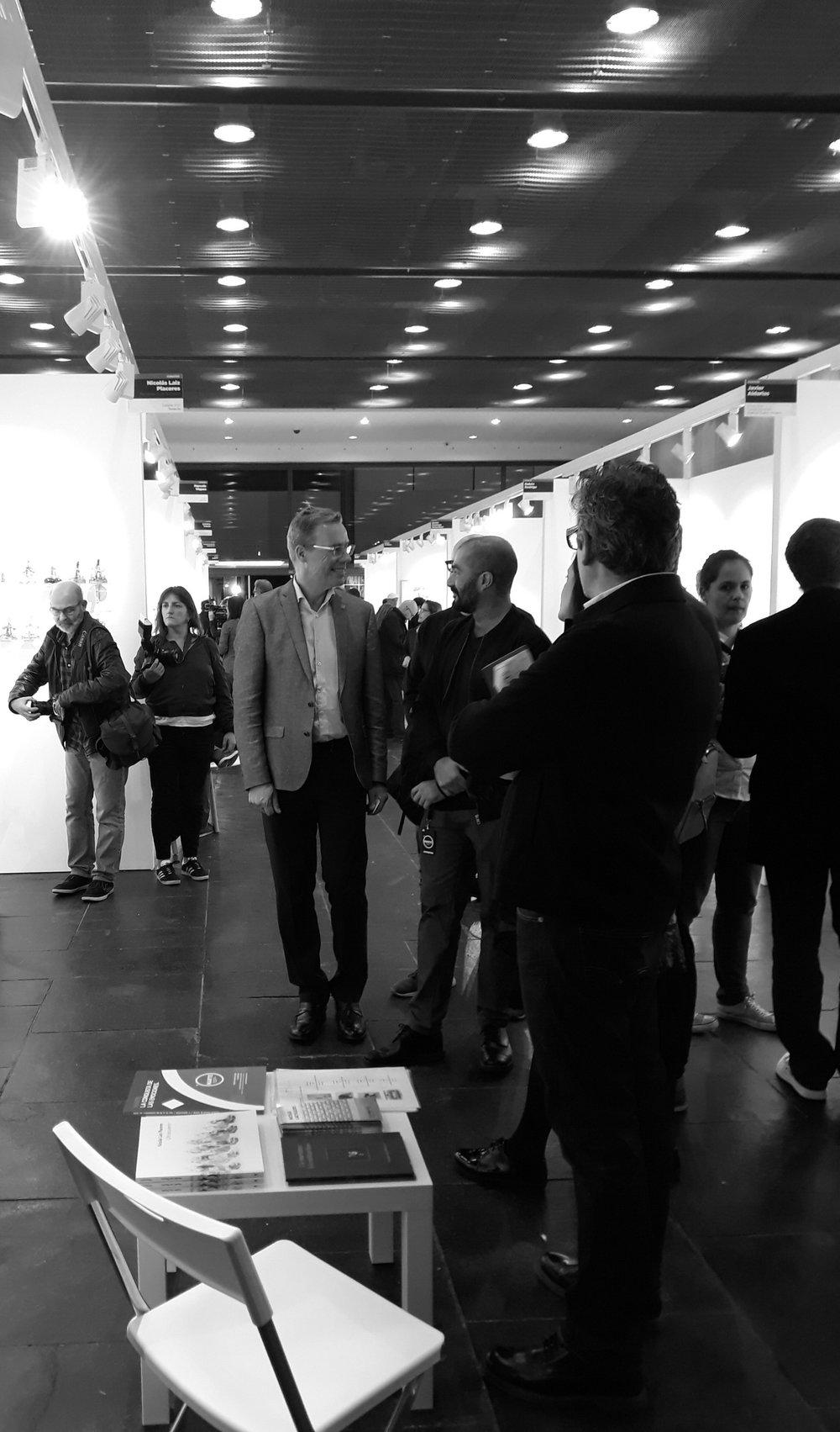 Galería ATC con Nicolás Laiz Placeres en Feria MARTE, Castellón, España