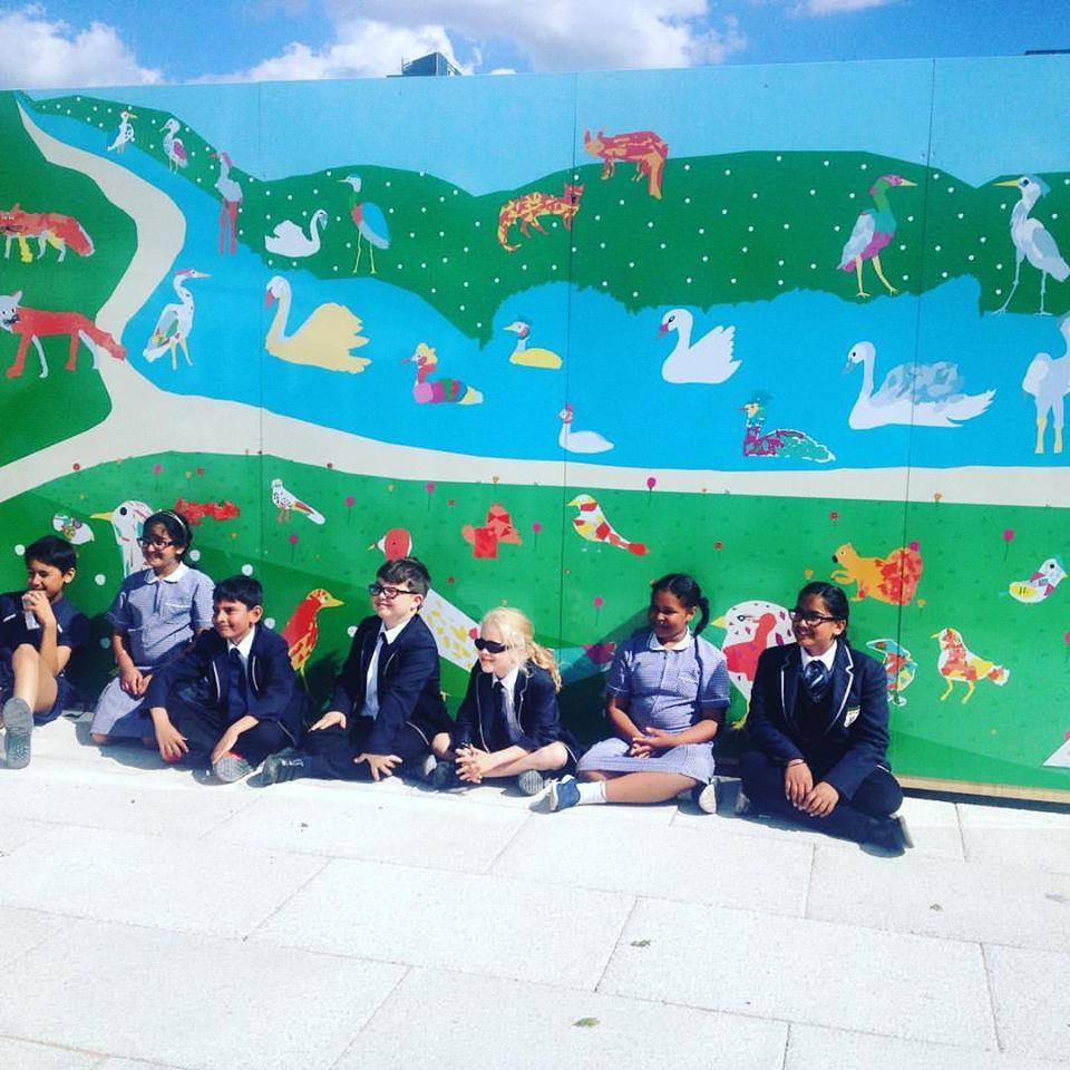 Commissioned by  Taylor Wimpey Homes  to facilitate a series of art workshops with KS2 students attending  Cobham Academy  through  Rosetta Art Centre  inspired from the fauna and flora of the Olympic Park.  I created a digital collage of the students work, which was printed onto a 20ft hoarding design and is now on permanent display in the  Queen Elizabeth Olympic Park .     NHS Commission