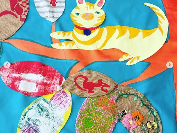 Commissioned by the  Bromley-By-Bow Centre  to facilitate a series of workshops for residents of Watts Grove and combine their pieces into a large-scale banner, through  Stitches in Time .  Workshop participants were given the opportunity to adorn a fabric leaf (using stitch, mono-printing and screen-printing) with an illustration or metaphor encapsulating what 'home' meant to them.     Petit Miracles Hub