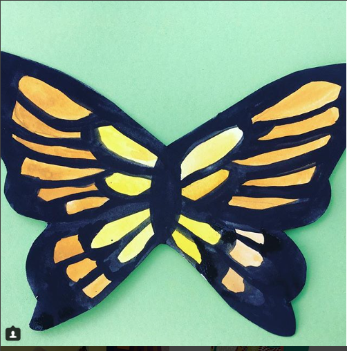 I also worked with some other lovely SPLASH Art facilitators, running weekly workshops in  King Edward's Memorial Park  and a one-off in  Crossrail Place  Roofgarden.  I loved doing these butterflies with the little ones!
