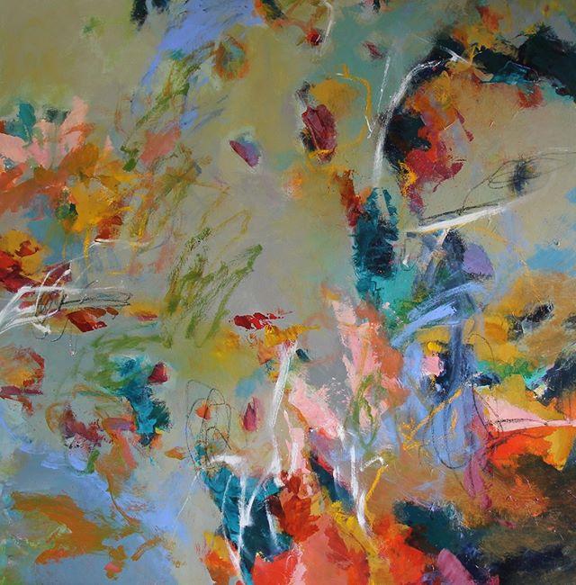 #TGIF! - A Happier Place 40'' x 40'' mixed media #abstractart . . #inthestudio #contemporaryart #painter #art #creativityfound #localart #abstractartist #artcollective #iloveart #miketimeforart #artist #bethschmohr