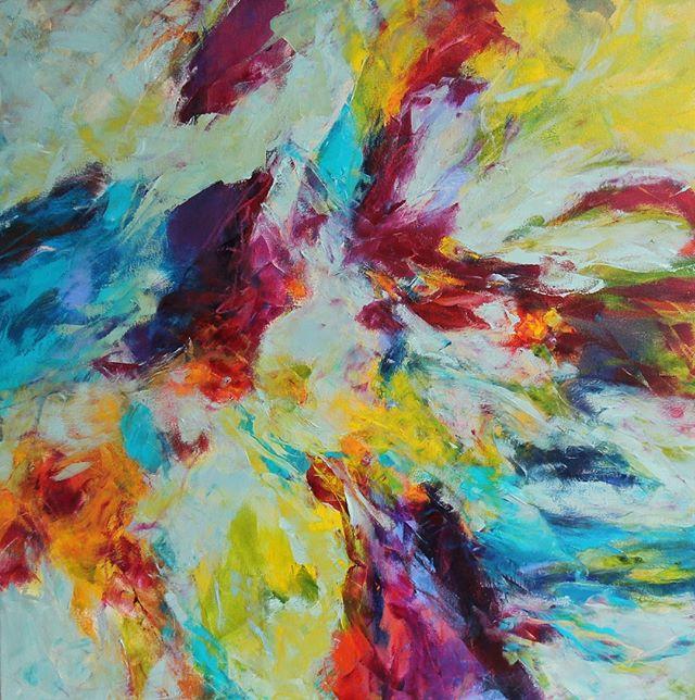 In The Groove, 36 x 36 inches, acrylic on canvas (Sold) . . . . #acrylicpainting #abstractart #modernart #abstractpainting #instaart #artoftheday #artgallery #creative #artsy #mixedmedia #instaartist #artlovers #abstraction #fineart #inthestudio #contemporaryart #painter #art #creativityfound #localart #abstractartist #artcollective #iloveart #maketimeforart #artist #color #interiordesign #bethschmohr